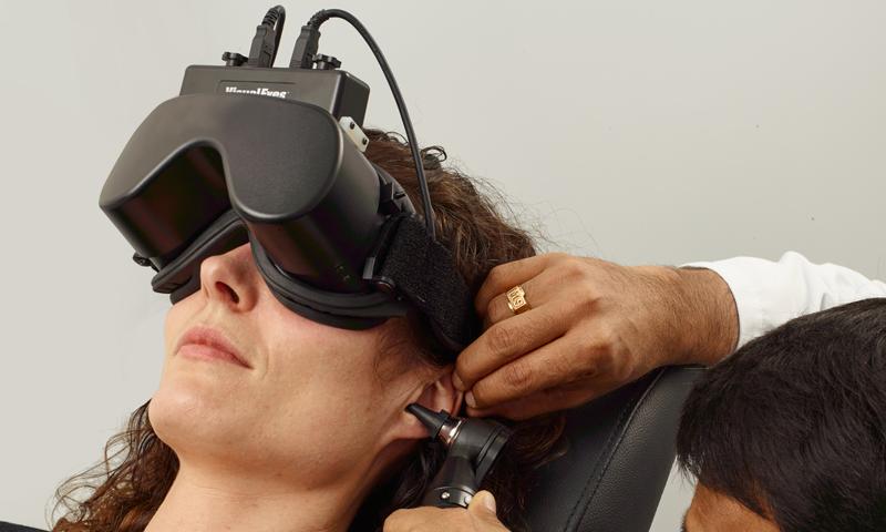 occhiali per test funzionalità vestibolare